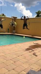 Jordan jumping in
